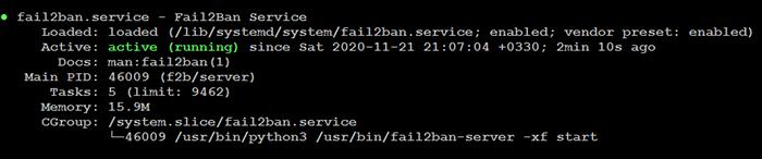 Fail2ban Service Status